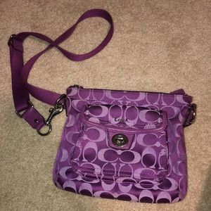 Official Coach over the shoulder purse